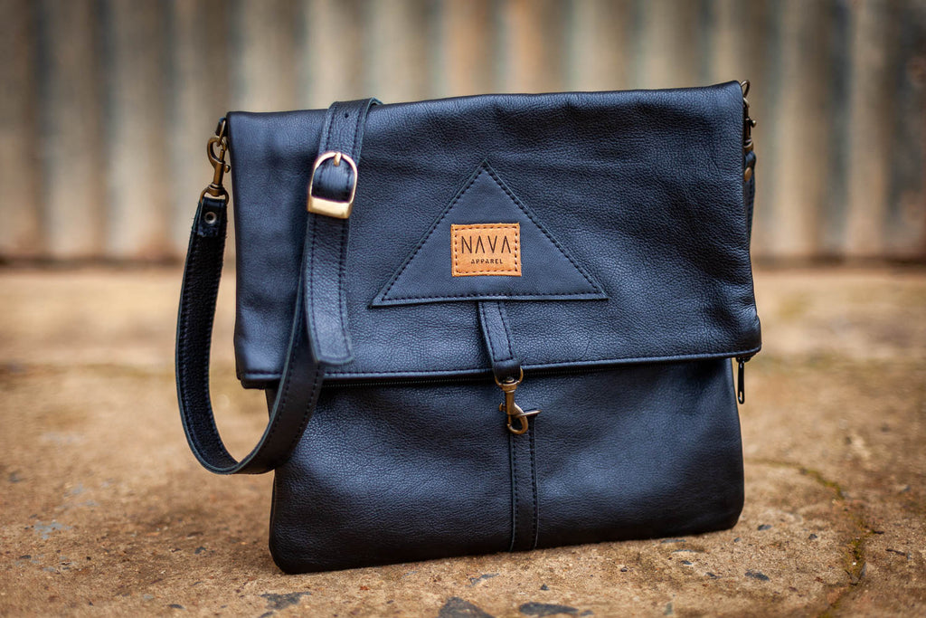 Sling Bag Texas Black Leather