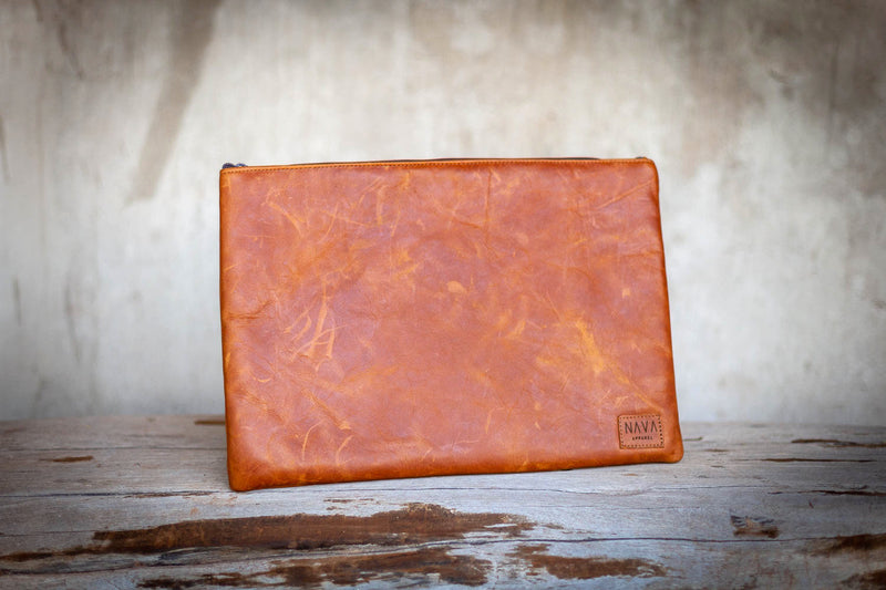 Diesel Toffee Leather Utility Case - iPad / Clutch / Accessories