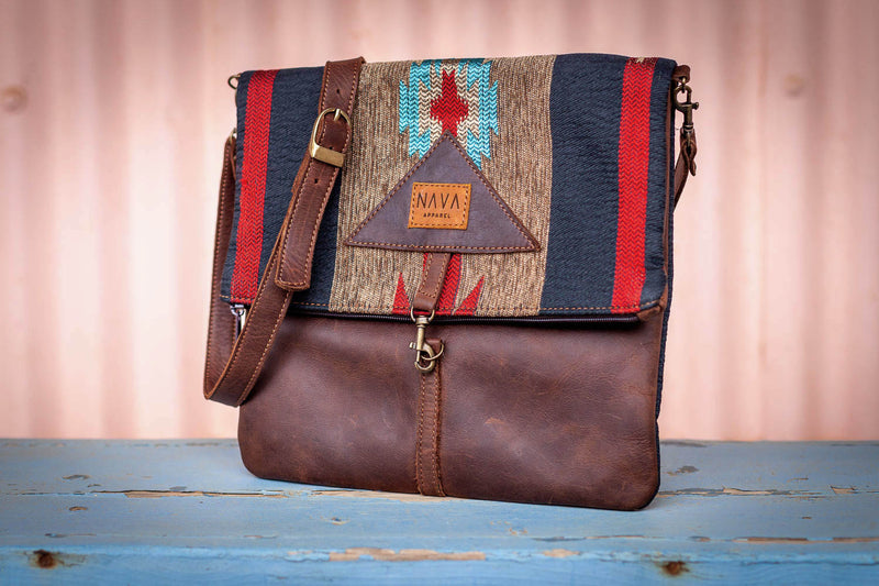Sling Bag 'Ndebele' Diesel Brown Leather