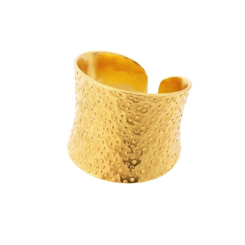 Nudo Gold Dotted Ring