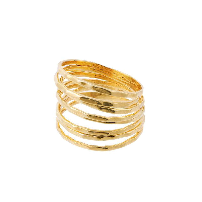 Nudo Gold Stacking Rings