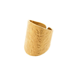 Nudo Gold Long Textured Ring