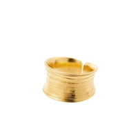 Nudo Gold Short Scratch Ring