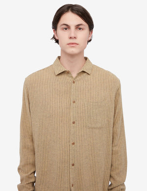 Curtis Sand Striped Shirt