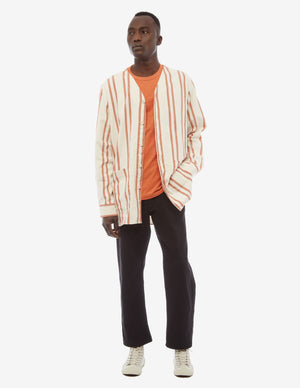 Long Orange Stripe Overshirt