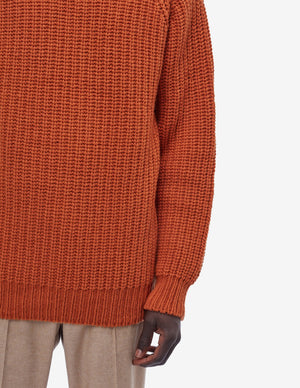 Urchin Rib Turtleneck Rust