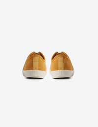 Suede Wingtip Sneakers Yellow