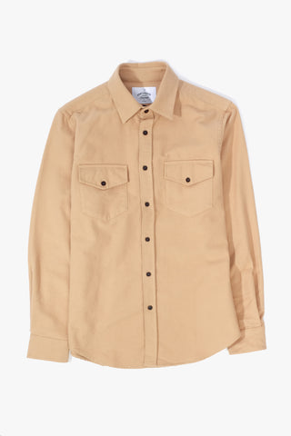Campo Camel Shirt, Clothing Men, Portugese Flannel - Six and Sons