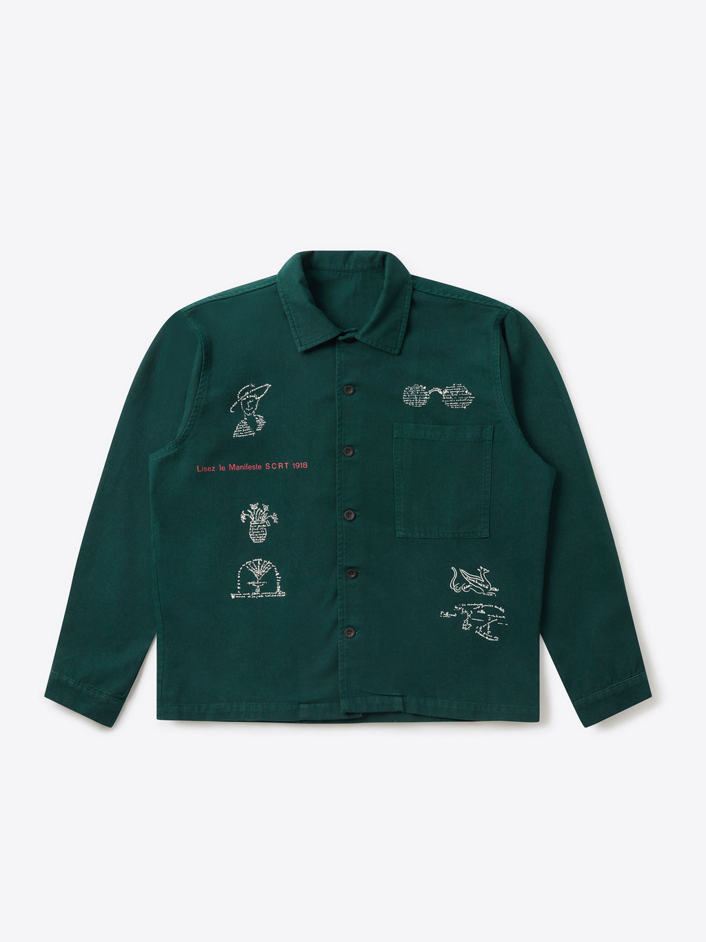 Dada Poetry Overshirt Forest Green
