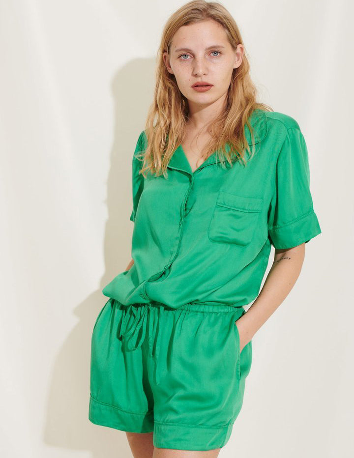 Rana Pyjama Shorts Green