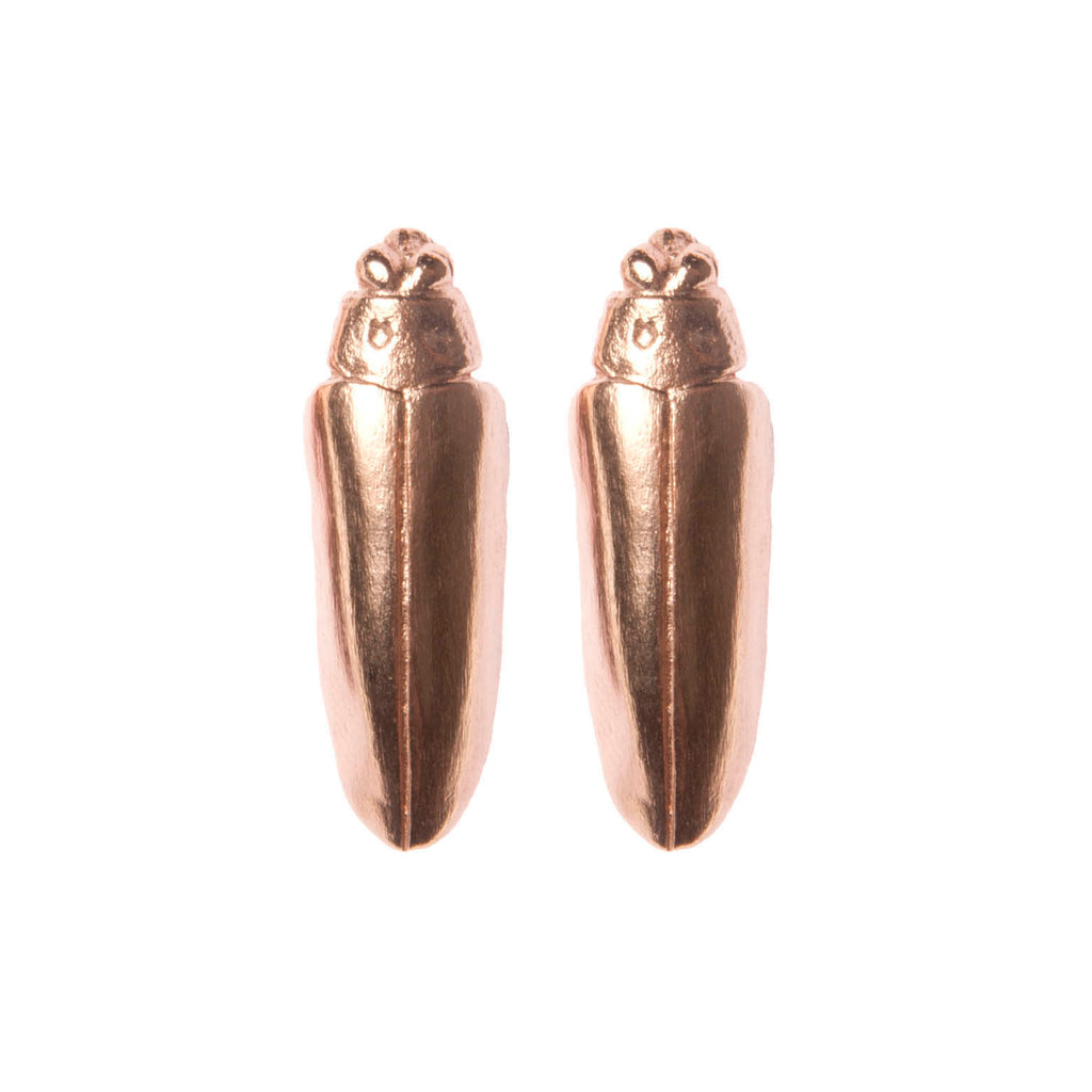 Rose Gold Bug Earrings