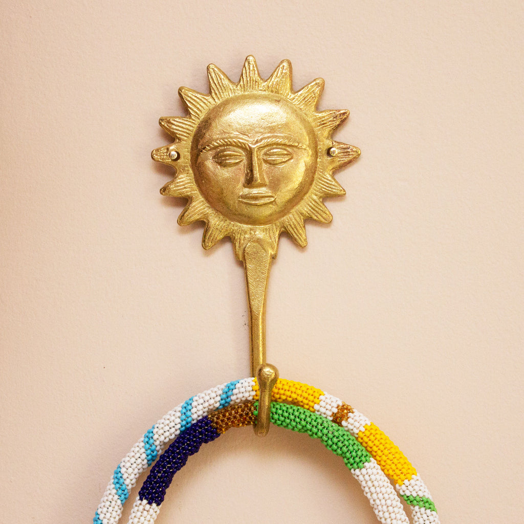 Ashanti Brass Hook Sun