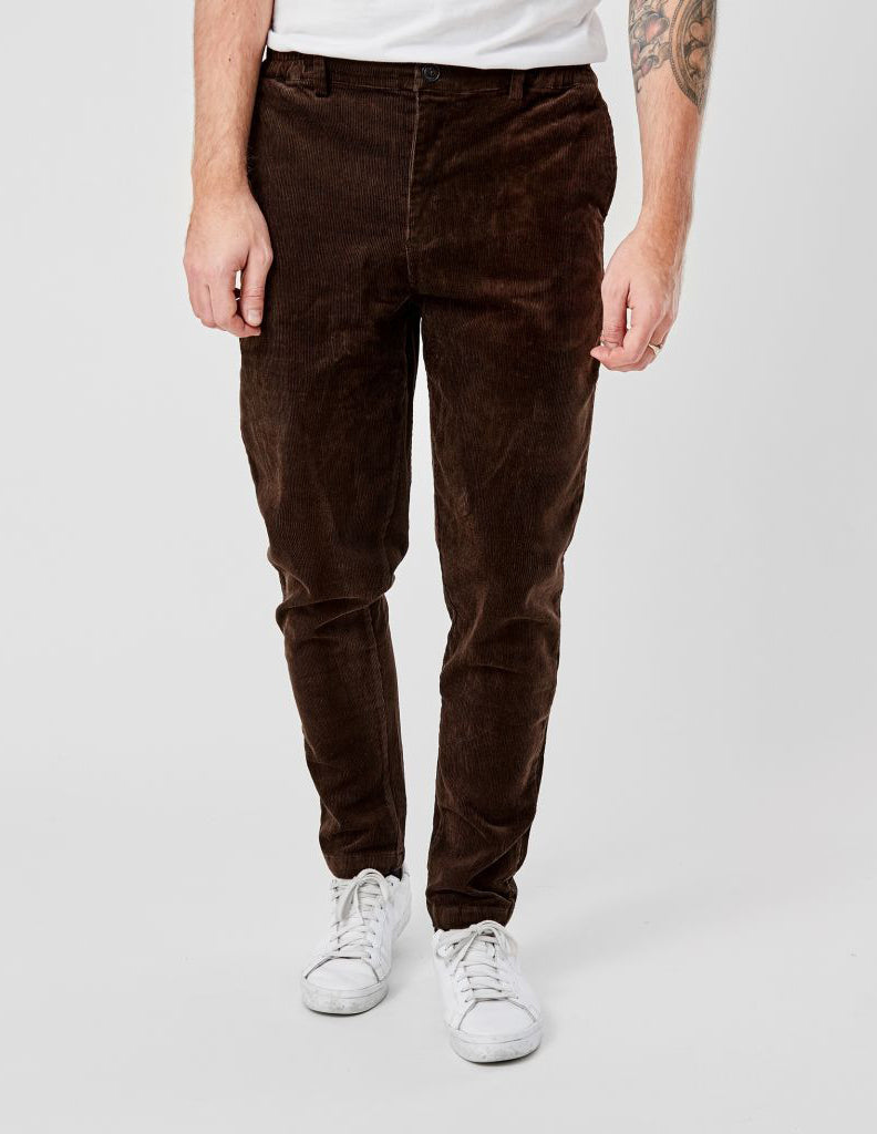 Saxo Corduroy Dark Brown Pants