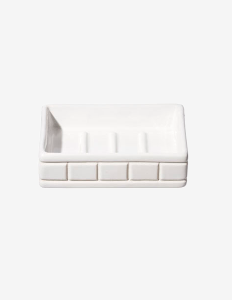 CERAMIC BATH SOAP DISH