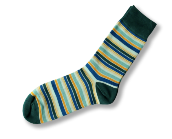 Turquoise with stripes Bamboo socks