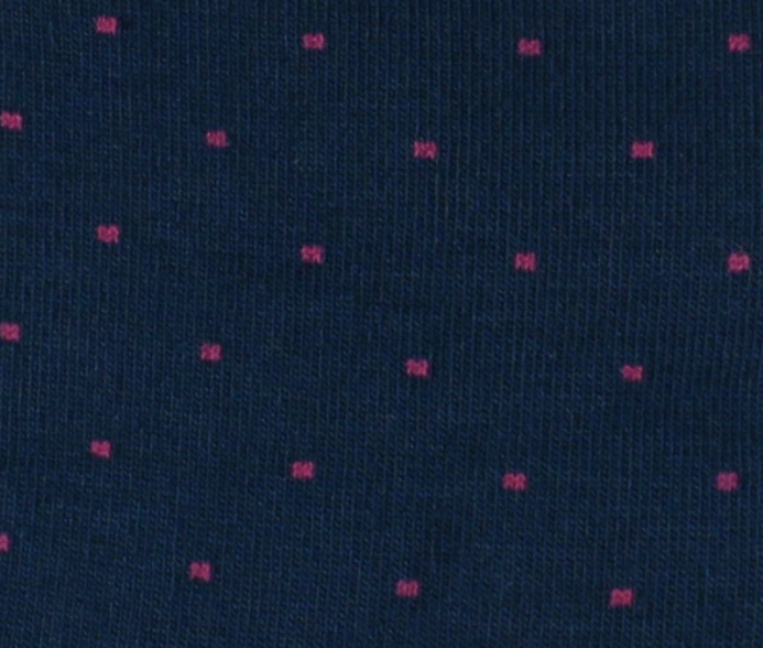 Blue with Pink dots Bamboo socks