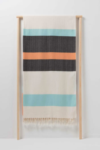 Voyager Urban Tribe Scarf Peachy Orange - Anthracite -  Mint