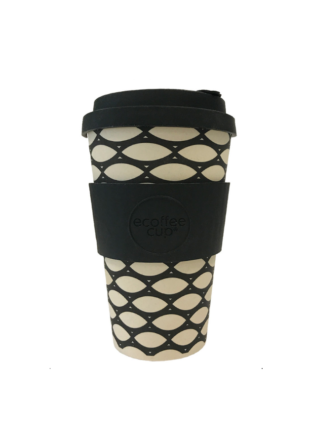 Reusable Takeaway Cup in Bamboo Fibre Basketcase 40cl