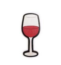 Wine glass brooches