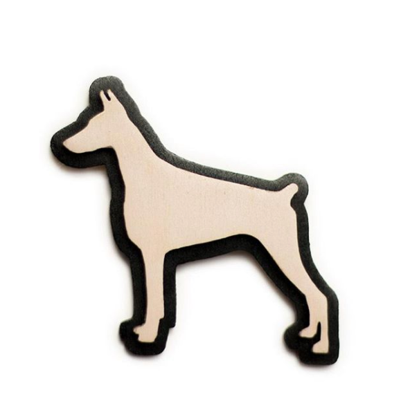 Dog brooches (various colours)