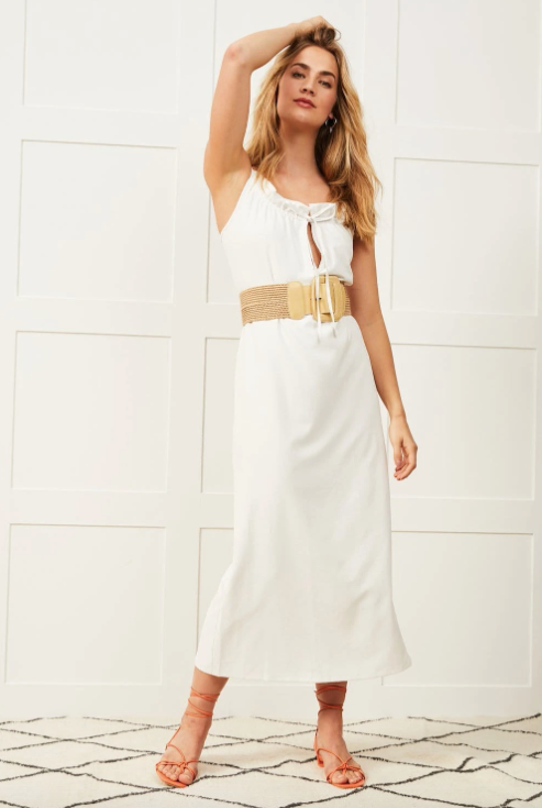 Ruffle Dress - Cream