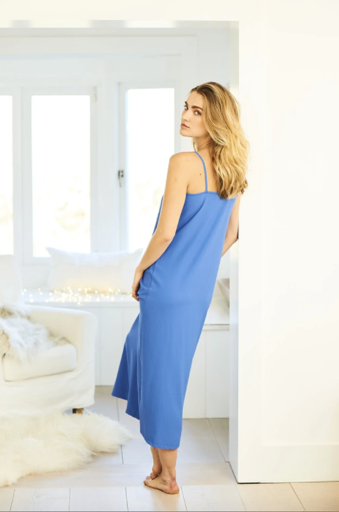Ruffle dress - Azure