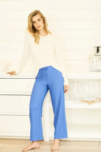 Drawstring trousers - Azure