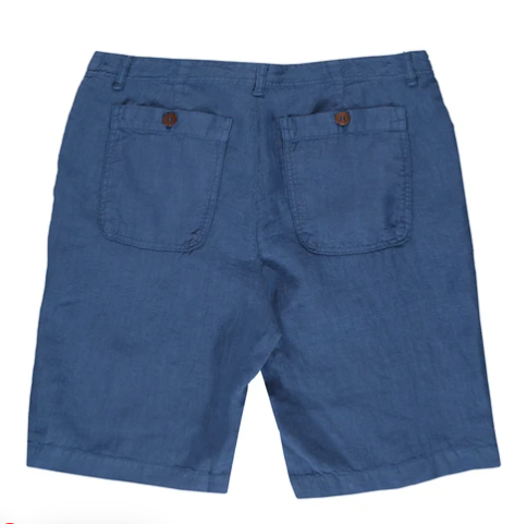Burrow Linen Short - Chambray
