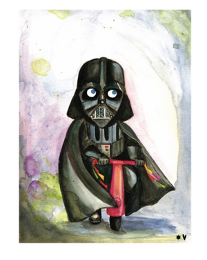 Kid Vader on scooter A4