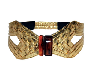 Amber Leather Waist Belt