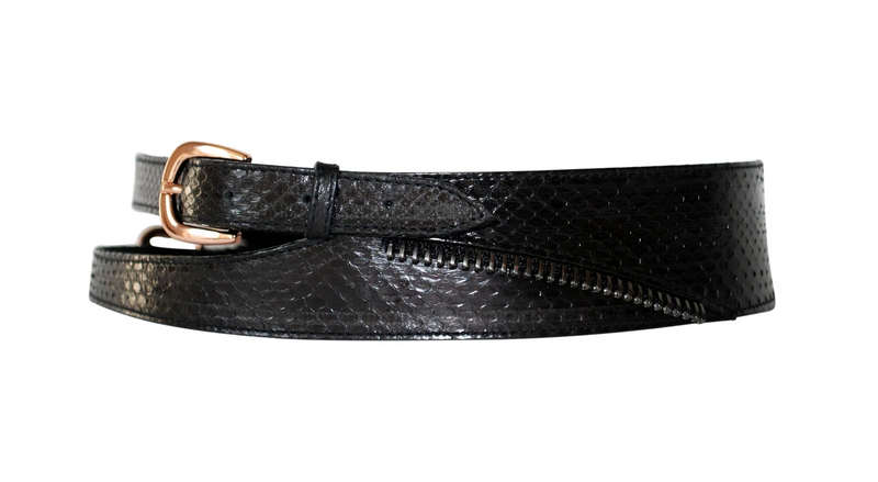 Lauren ZIPS Leather Waist Belt