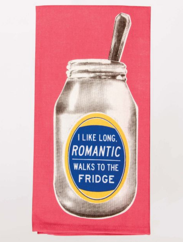 Romantic Walks to the Fridge Dish Towel