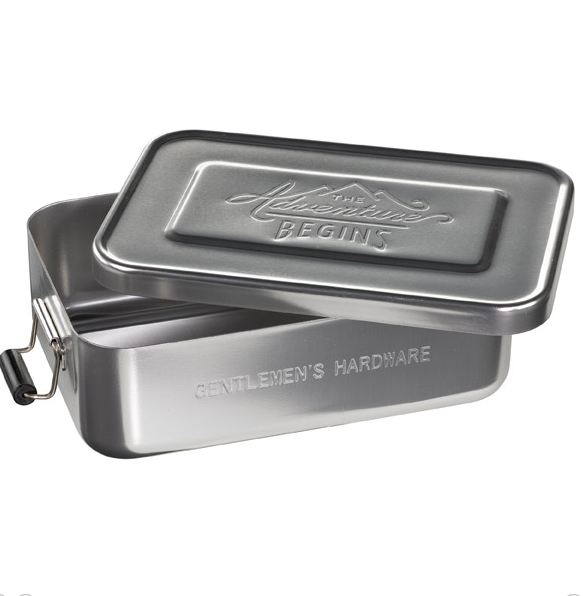 Aluminium Lunch Tin Silver (The Adventure Begins )