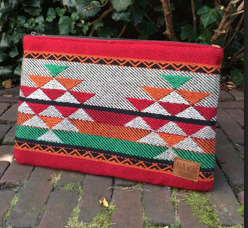 Red/Orange/Green Xhosa Pattern Utility Case - iPad / Clutch / Accessories