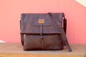 Sling Bag Diesel Brown Leather