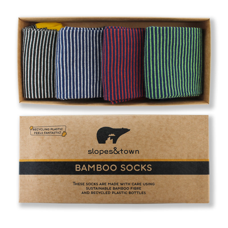 GIFT BOX Stripes Edition Bamboo socks