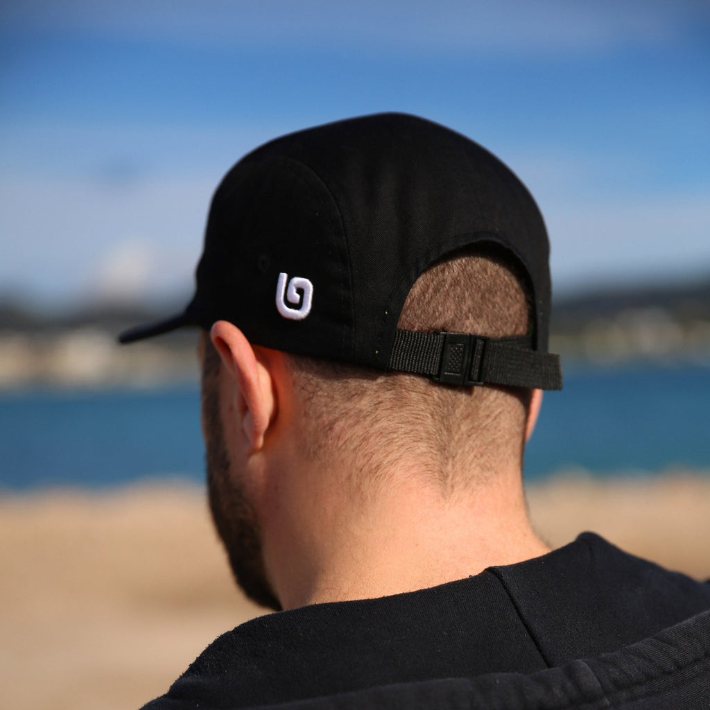 'G' Collection Camper Cap - Black