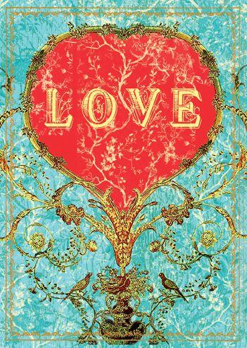 ORNATE LOVE GREETING CARD