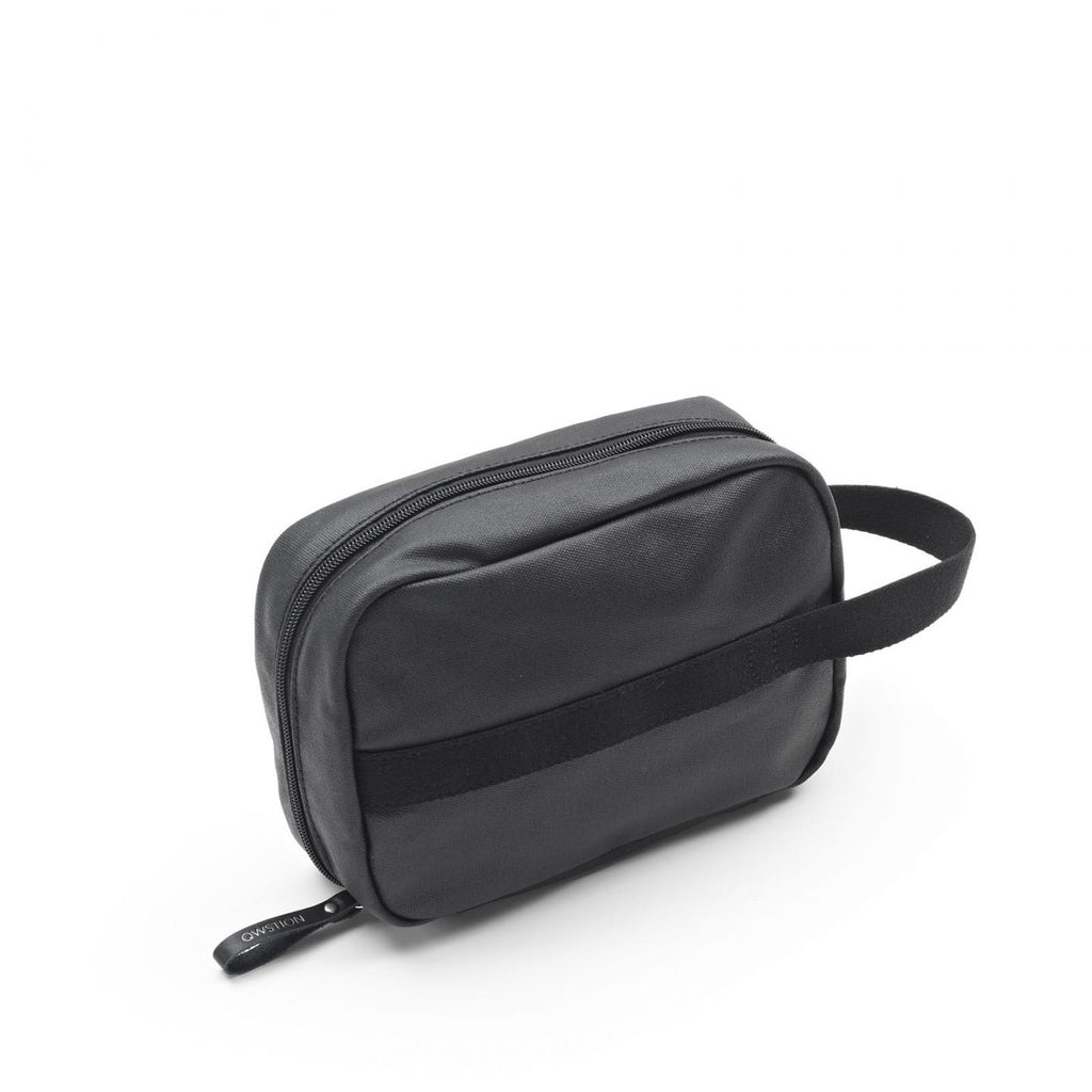 QWSTION Toiletry Kit Organic Jet Black