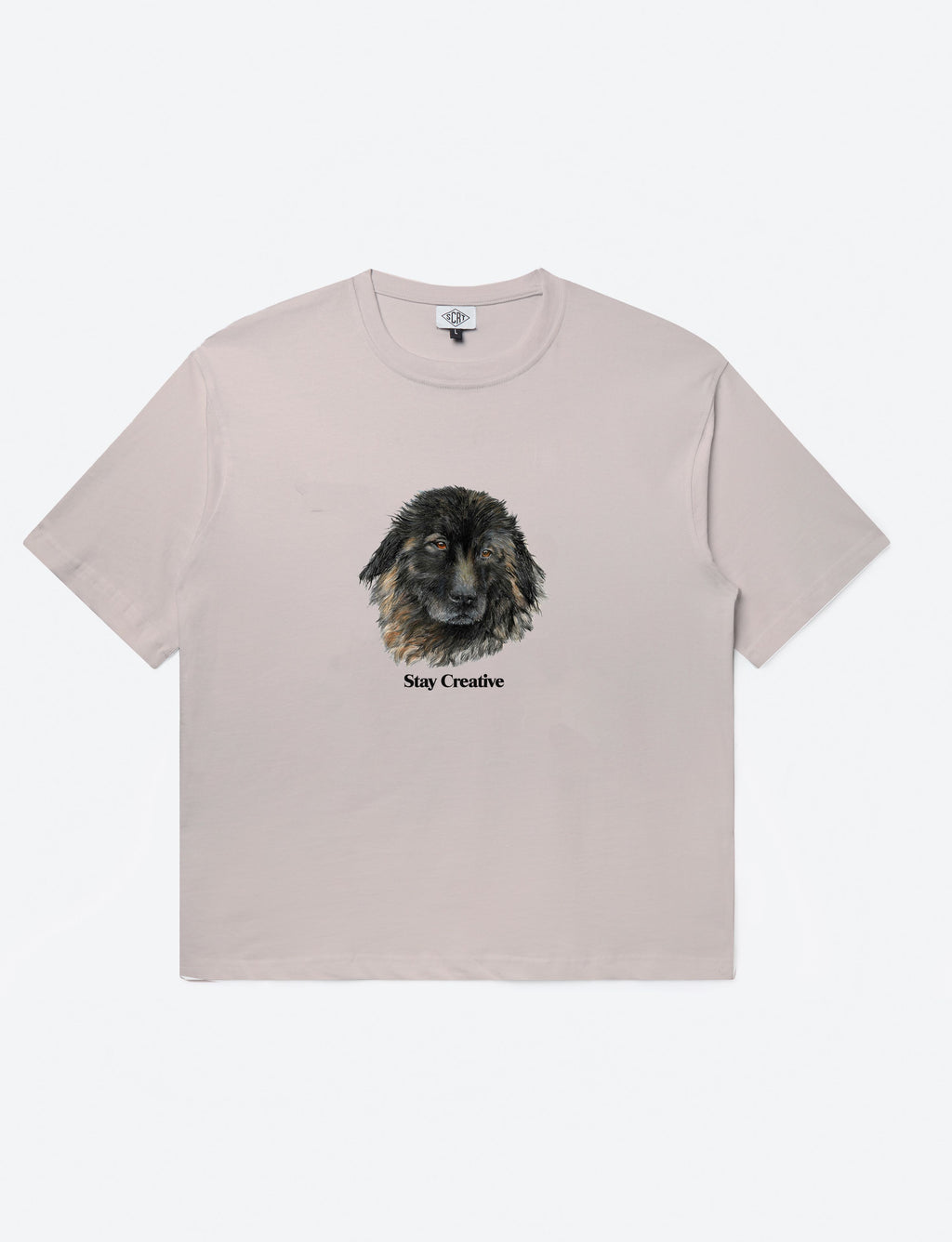 Bo The Dog Tee Pink