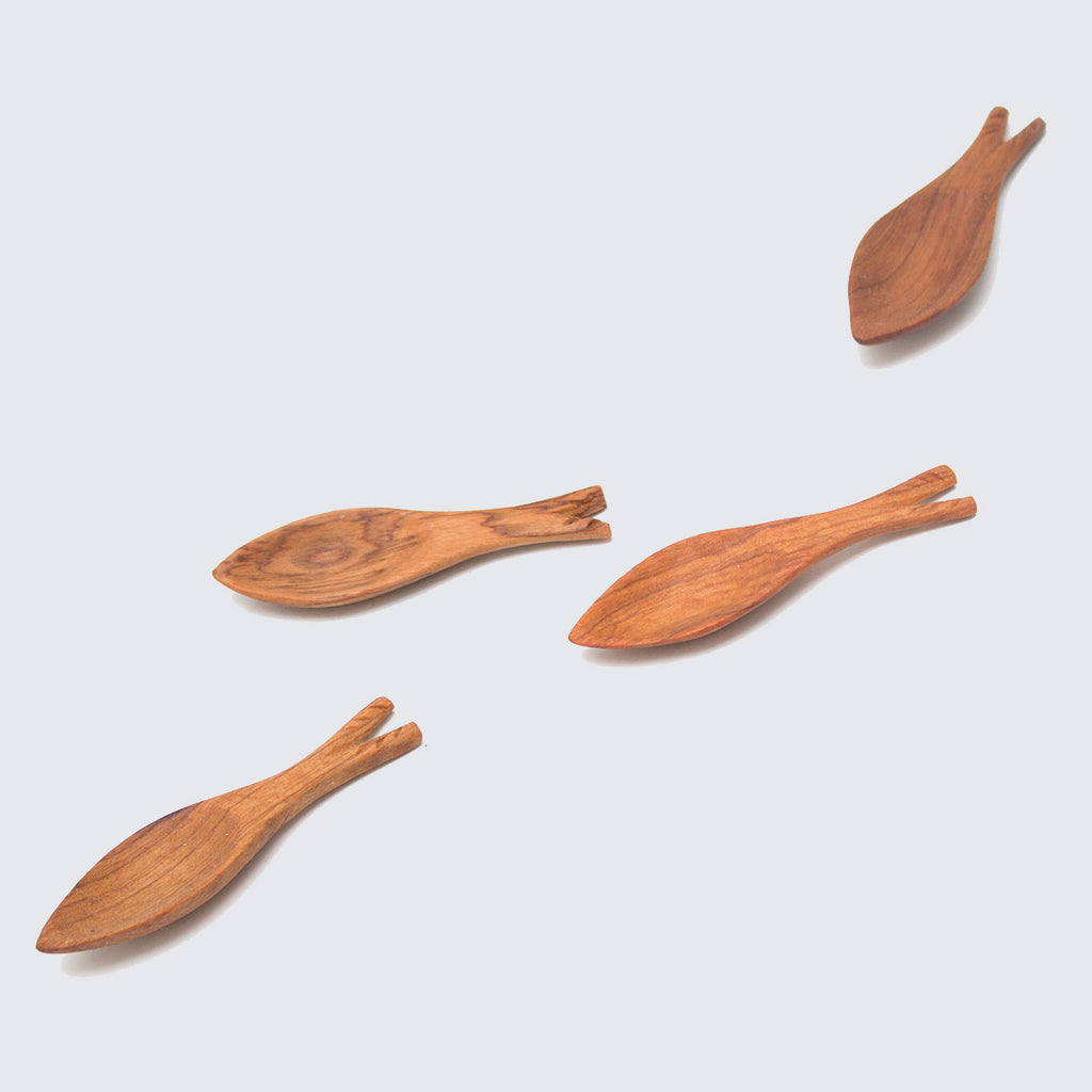 Wild Olive Wood Fish Spoon