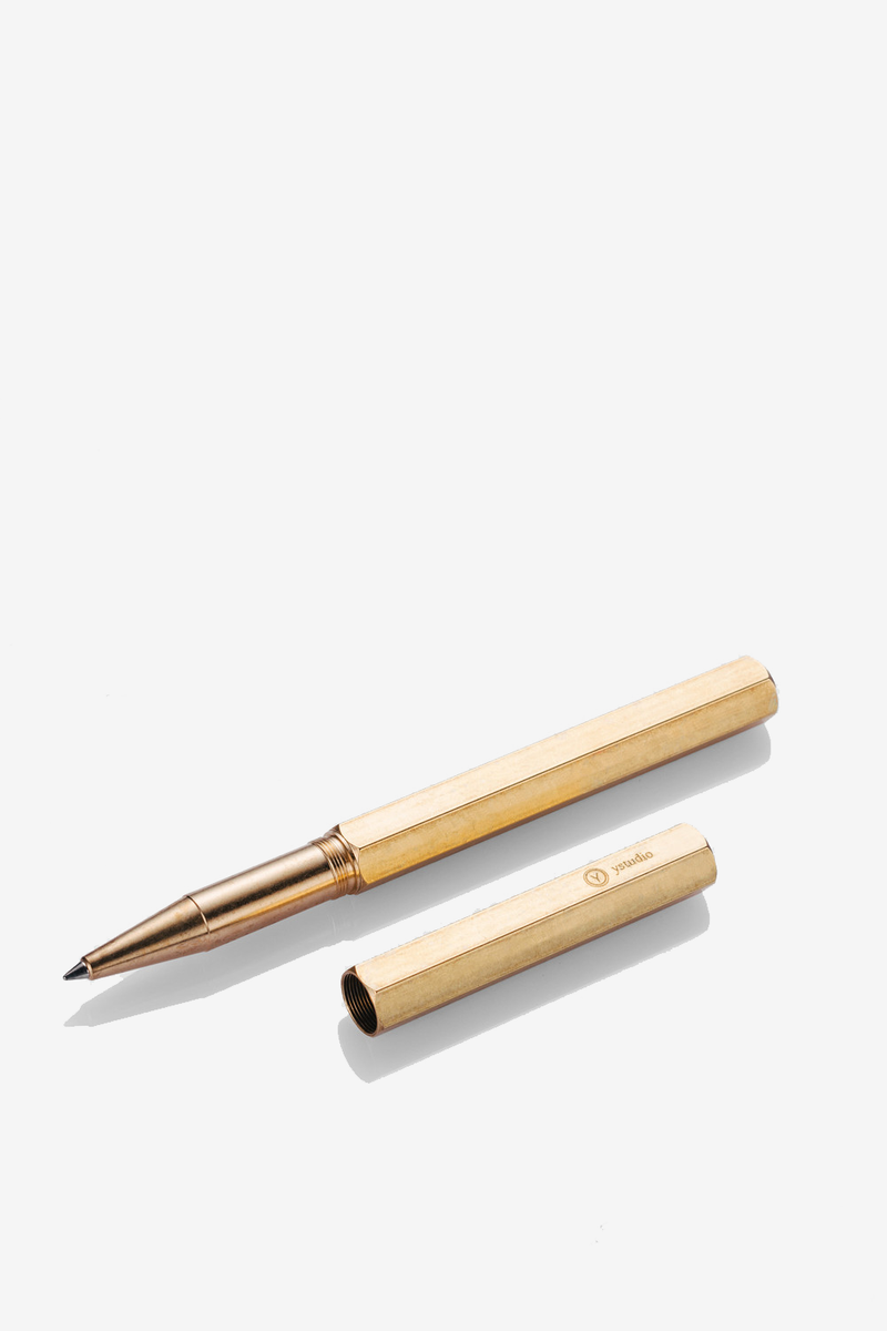 Ystudio Brass Rollerball Pen, Office, Ystudio - Six and Sons