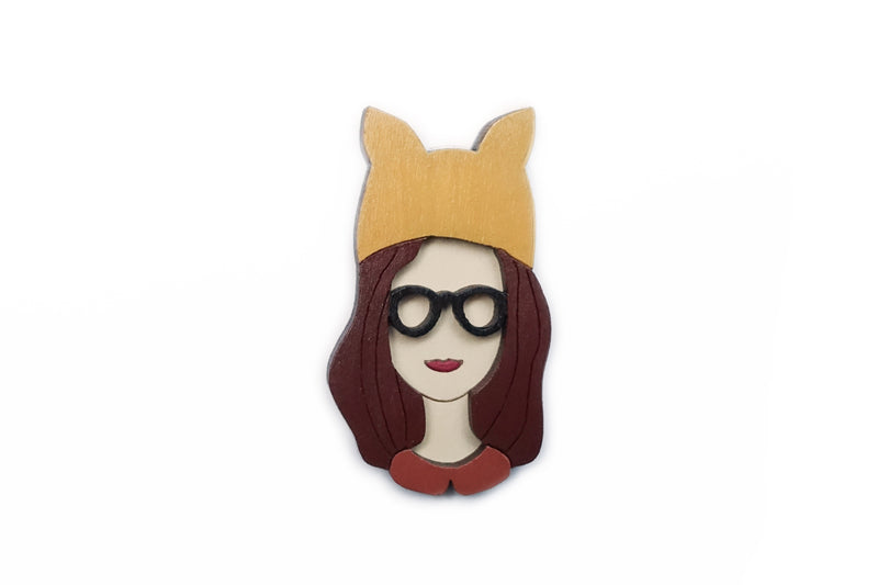 Girl faces brooches (various styles)