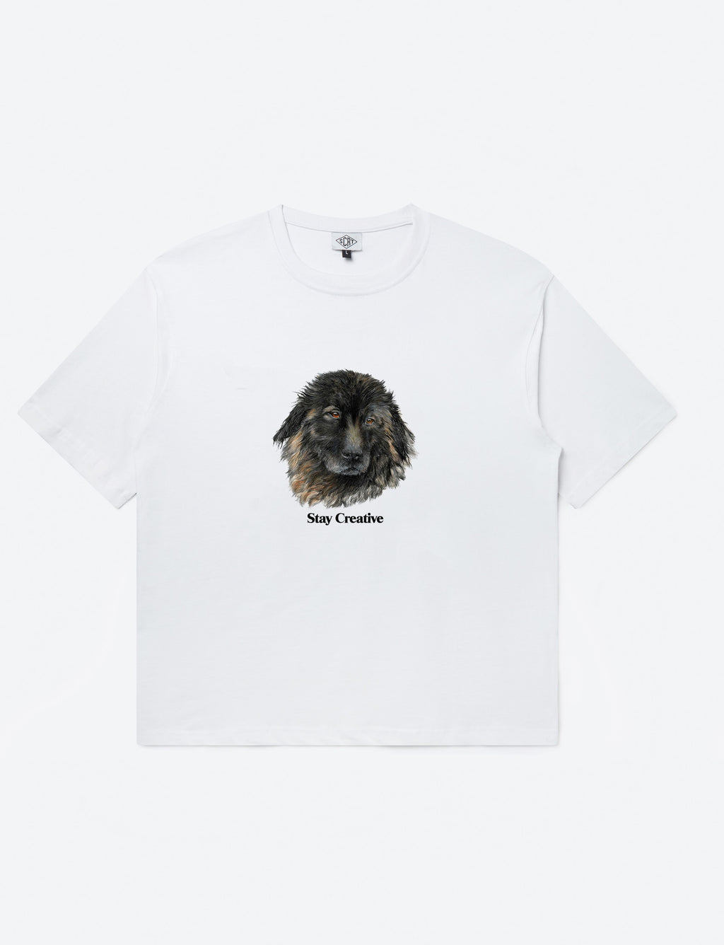 Bo The Dog Tee White