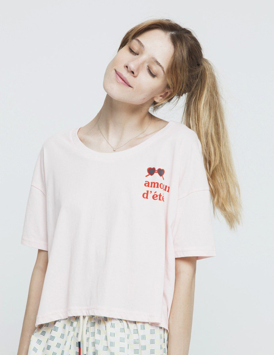 Amour D'Ete Ivy Cropped T-shirt