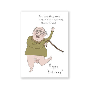 Willy in the Wind Card A6 Greeting Card
