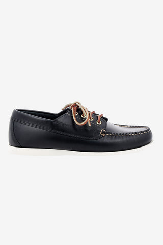 Camp moc Jackman Pull up Navy Lthr, Shoes Men, G.H. Bass - Six and Sons