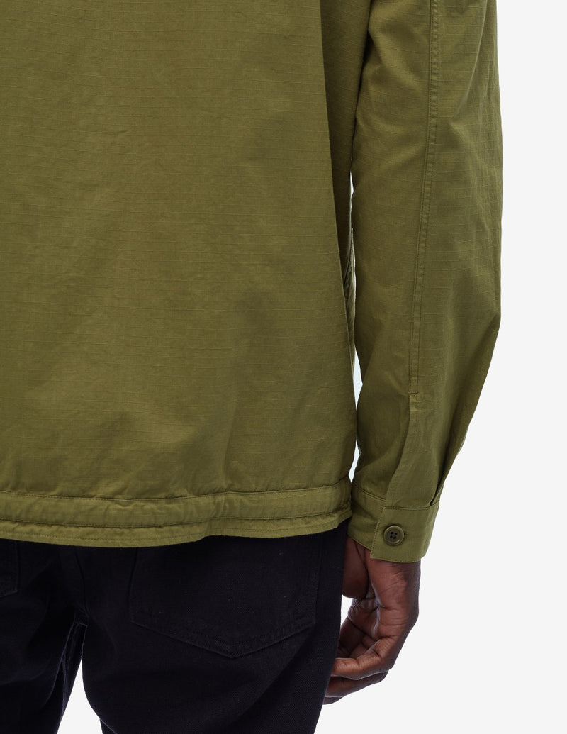 Cotton Ripstop Beach Shirt Green