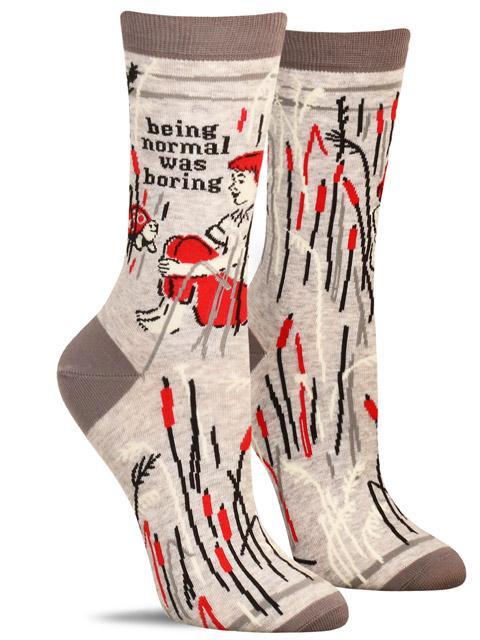 Being Normal Was Boring W-Crew Socks