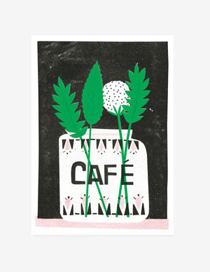 A3 Cafe riso wall print